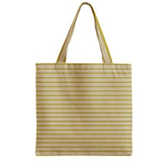 Decorative lines pattern Zipper Grocery Tote Bag
