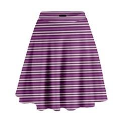 Decorative lines pattern High Waist Skirt