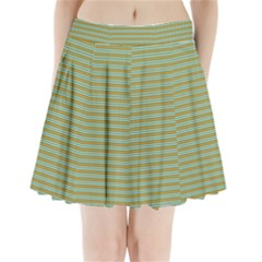 Decorative Line Pattern Pleated Mini Skirt