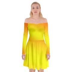 Z Off Shoulder Skater Dress