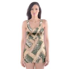 Ab Celtic Swirl Skater Dress Swimsuit