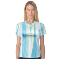 Artistic pattern Women s V-Neck Sport Mesh Tee