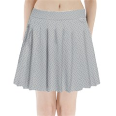 Artistic Pattern Pleated Mini Skirt