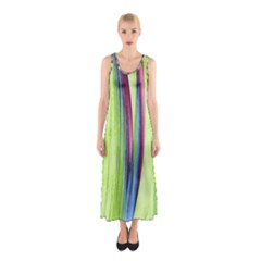 Artistic Pattern Sleeveless Maxi Dress