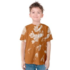 Autumn Crocus Orange Kids  Cotton Tee