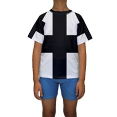 Greek Cross Kids  Short Sleeve Swimwear