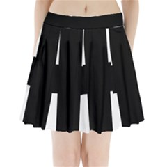 Greek Cross Pleated Mini Skirt