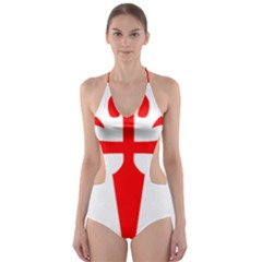 Cross of Saint James  Cut-Out One Piece Swimsuit