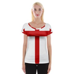 Cross of Saint James Women s Cap Sleeve Top