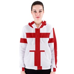 Cross of Saint James Women s Zipper Hoodie
