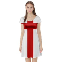 Cross of Saint James Short Sleeve Skater Dress