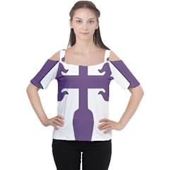 Cross of Saint James Women s Cutout Shoulder Tee