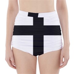 Latin Cross  High Waisted Bikini Bottoms