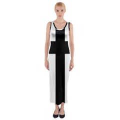 Latin Cross  Fitted Maxi Dress