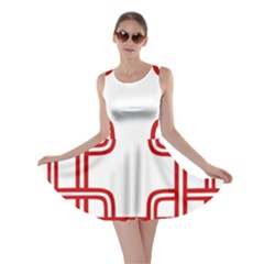 Macedonian Cross Skater Dress
