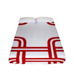 Macedonian Cross Fitted Sheet (Full/ Double Size)