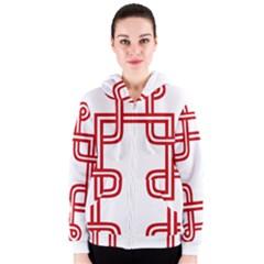 Macedonian Cross Women s Zipper Hoodie