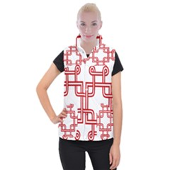 Macedonian Cross Women s Button Up Puffer Vest