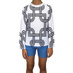 Macedonian Cross Kids  Long Sleeve Swimwear