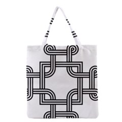 Macedonian Cross Grocery Tote Bag