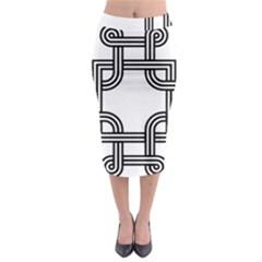 Macedonian Cross Midi Pencil Skirt