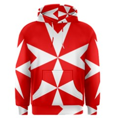 Cross of the Order of St. John  Men s Pullover Hoodie