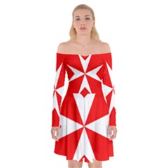 Cross Of The Order Of St  John  Off Shoulder Skater Dress