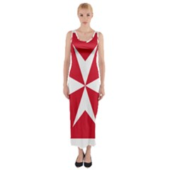 Civil Ensign of Malta Fitted Maxi Dress