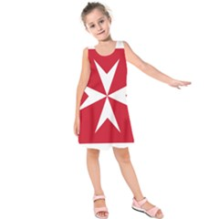 Civil Ensign of Malta Kids  Sleeveless Dress