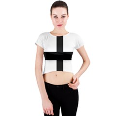 Cross Moline Crew Neck Crop Top