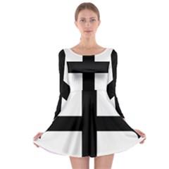 Cross Molin Long Sleeve Skater Dress