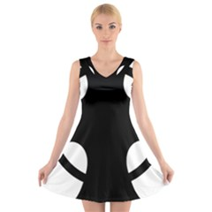 Cross of Novgorod V-Neck Sleeveless Skater Dress