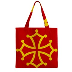 Flag of Occitania Zipper Grocery Tote Bag