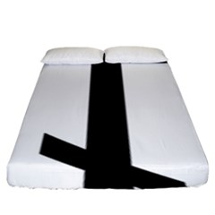 Orthodox Cross  Fitted Sheet (King Size)