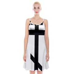Orthodox Cross  Spaghetti Strap Velvet Dress