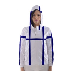 Byzantine Cross  Hooded Wind Breaker (Women)