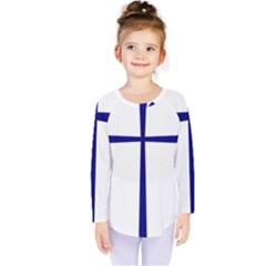 Byzantine Cross  Kids  Long Sleeve Tee