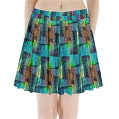 Abstract Square Wall Pleated Mini Skirt