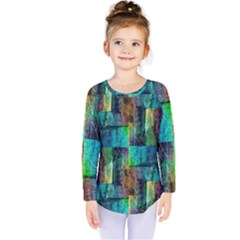 Abstract Square Wall Kids  Long Sleeve Tee