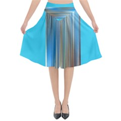 Blue Metal Annabellerockz Flared Midi Skirt