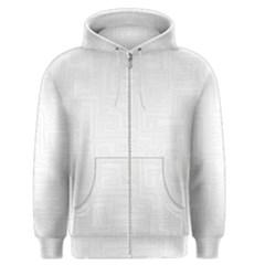 Pattern Men s Zipper Hoodie