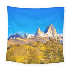 Snowy Andes Mountains, El Chalten, Argentina Square Tapestry (large)