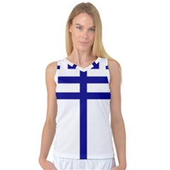 Papal Cross  Women s Basketball Tank Top