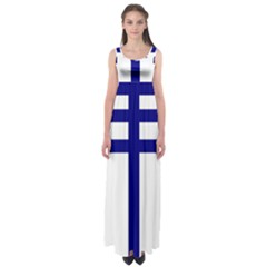 Papal cross Empire Waist Maxi Dress
