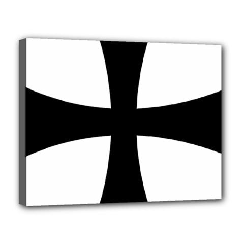 Cross Patty Canvas 14  x 11