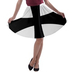 Cross Patty A-line Skater Skirt