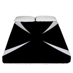 Cross Patty  Fitted Sheet (California King Size)