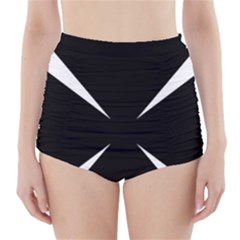 Cross Patty  High-Waisted Bikini Bottoms