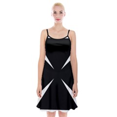 Cross Patty  Spaghetti Strap Velvet Dress