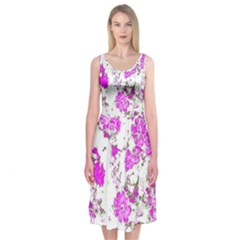 Floral Dreams 12 F Midi Sleeveless Dress